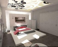 Modern bedroom ceiling
