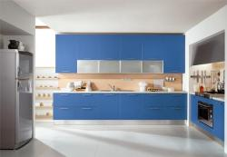 Modern kitchen Interior in Blue color