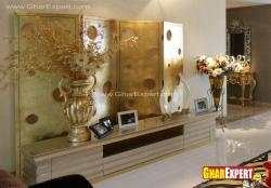 beautiful wooden unit for decorative items