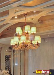 12 lamp chandelier for drawing room