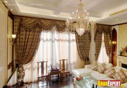 double layered curtain style for full height windows