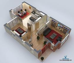 3D Floor Plan Design Rendering