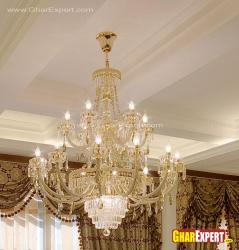 royal and ethnic chandelier for living room