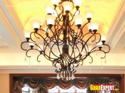 wrougth iron 12 lamp chandelier for drawing room