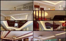 Ceiling designs of different styles