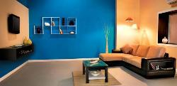 Modern Living room sofa, LCD Unit, Paint, Wall and Lighting Design