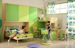 Kids room interior, wardrobe, flooring, ceiling, furniture design