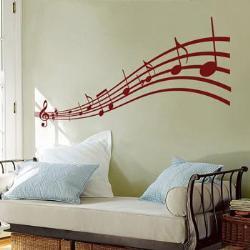 Music theme on walls
