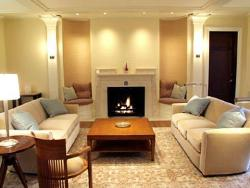drawing room lighting and furniture