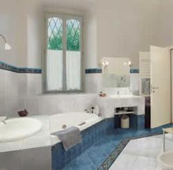 Bathroom Interior, Flooring, Walls, Basin, Vanity, Bath tub, Door, Window