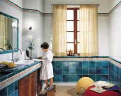 Spacious Bathroom Interior, Flooring, Walls, Basin , Windows, Mirrors, Vanity
