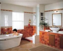 Bathroom Interior, Flooring, Walls, Basin , Walls, Doors, Mirrors, Bath tub, Vanity