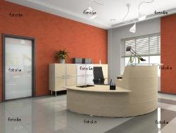 Office Reception Counter, Interior and Flooring