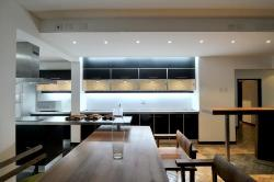 Kitchen Countertop with Kitchen Lighting