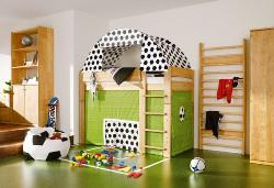Green Themed Kids Room Flooring