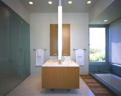 Bathroom Light Fittings and bath tub in the bathroom