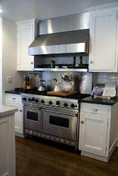 Modern Kitchen Cooking Range and hob in steel finish