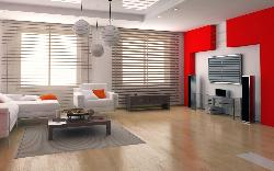 Living room Ceiling, Lighting, LCD unit, Wall Unit, Furniture and Flooring