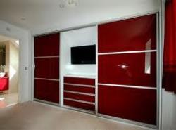 High gloss membrane finish LCD unit and wardrobe