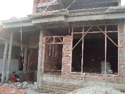 Raw construction of house