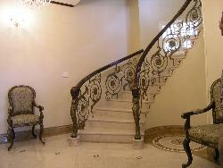 Stairs design with railing design