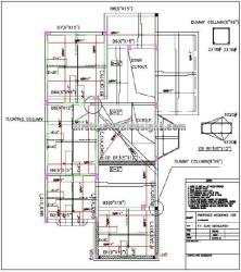 Structural design of residence, first floor slab details