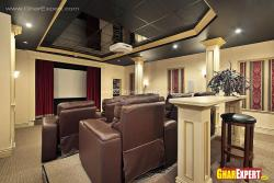 Comfortable home theater for 6 persons