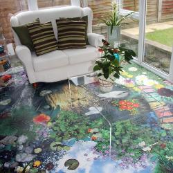 Blue Butterfly Vinyl in Conservatory