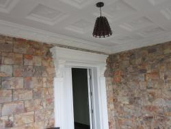 POP Ceilling, Pillar work at entrance, Stone work on wall Professionalism