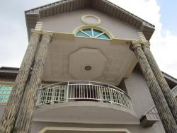 Exterior Elevation Recessed p o p ceiling design in balcony
