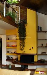 Indoor hanging plant over the wall