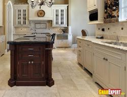 Island and cabinets design for kitchen
