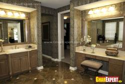 Master bathroom vanity and dressing table