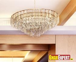 Crystal Chandelier with silver finish