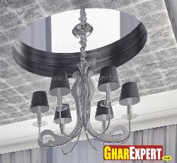 Modern Chandelier design with smoke gray color