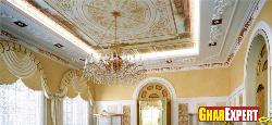 Ceiling design for big drawing room