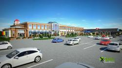 3D Exterior Rendering Shopping Mall Design