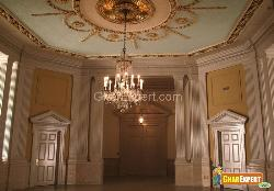 See the Carving on Ceiling and Wall and the Decorative Light