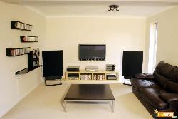 Home cinema sound system in modern room
