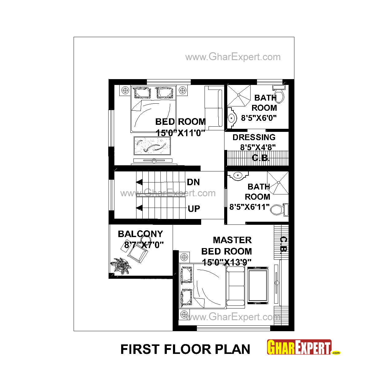 House Plan for 21 Feet by 21 Feet plot Plot Size 21 Square Yards ...