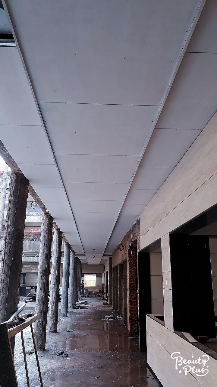 gallery cement Seet ceiling