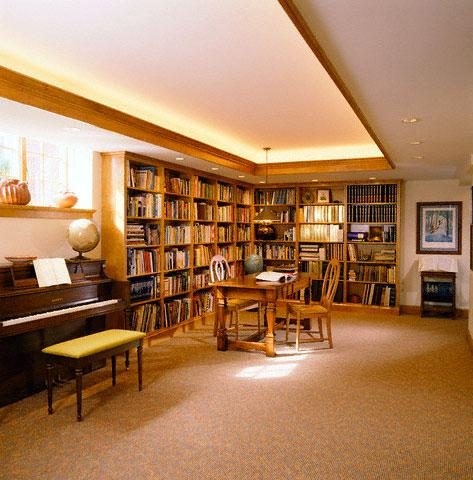 Library in Basement