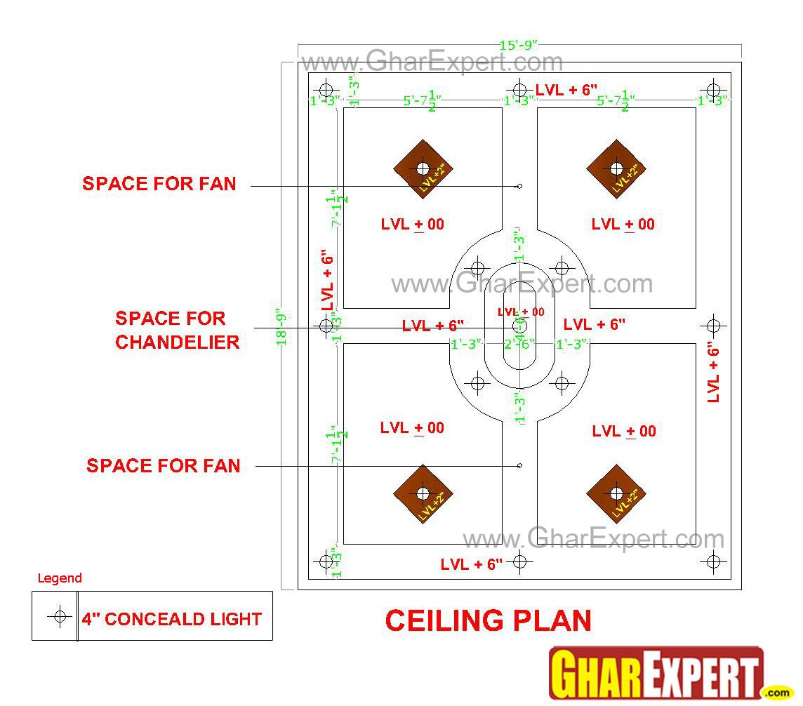 Ceiling design for large room ....