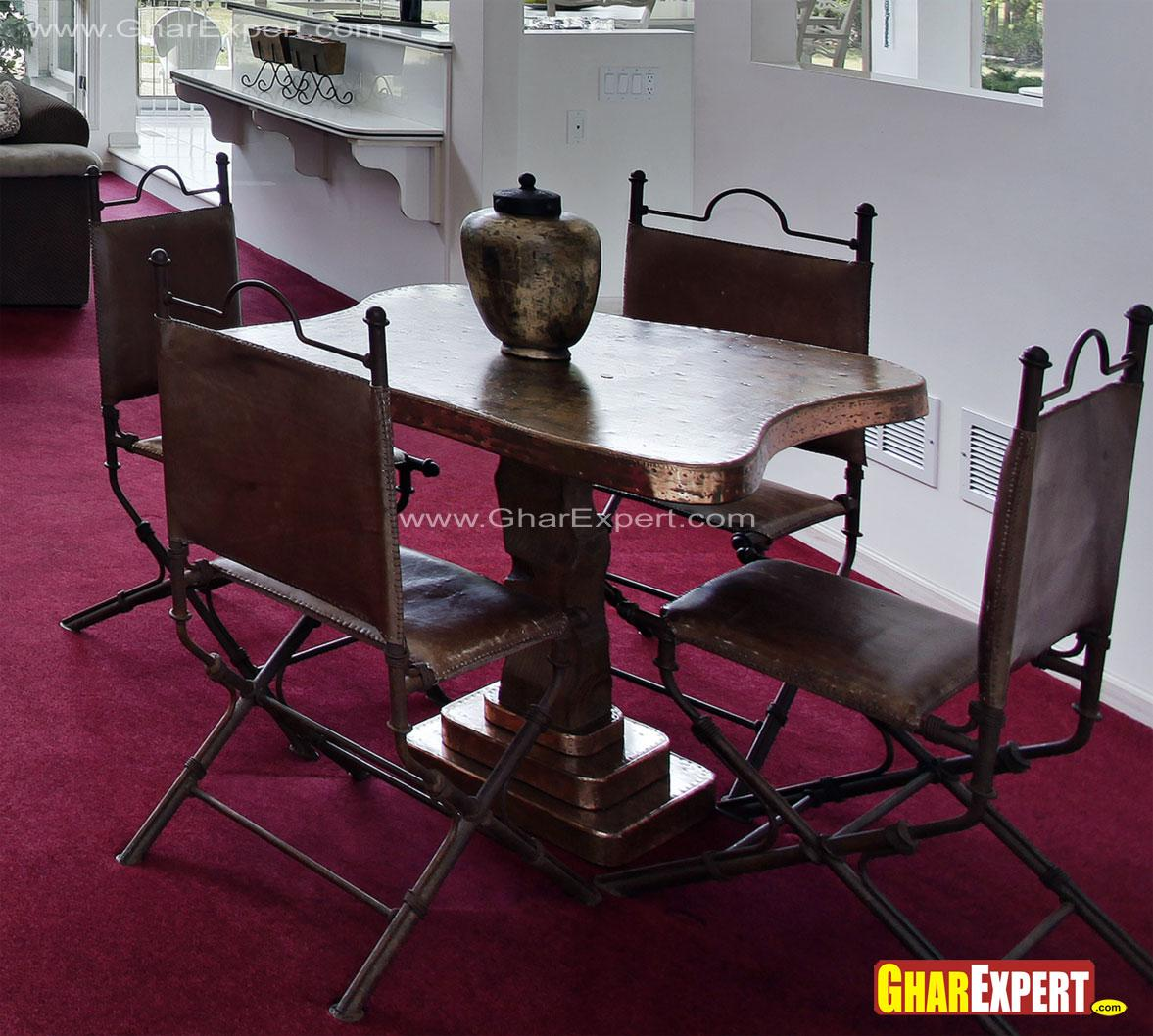 4 seater old style dining furn....