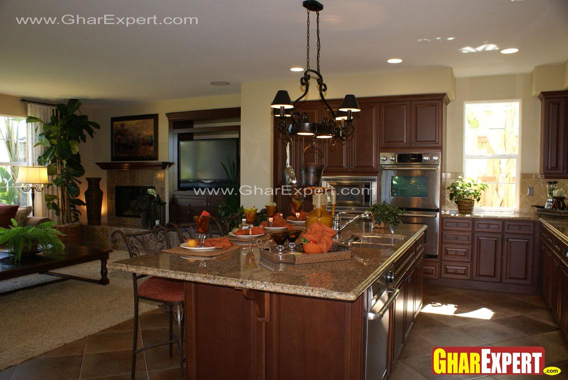 Open and modular kitchen with ....
