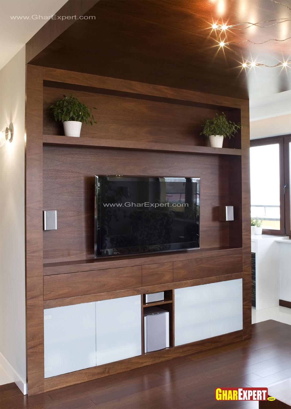 Wooden Lcd unit with decorativ....