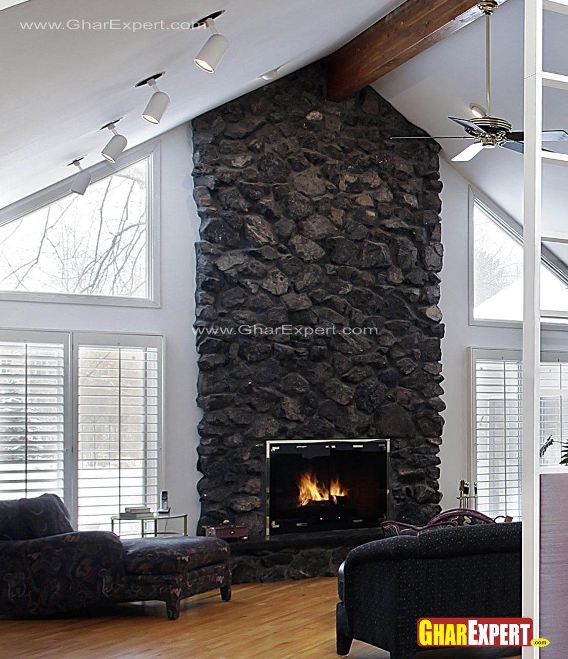 fireplace wall for living room....