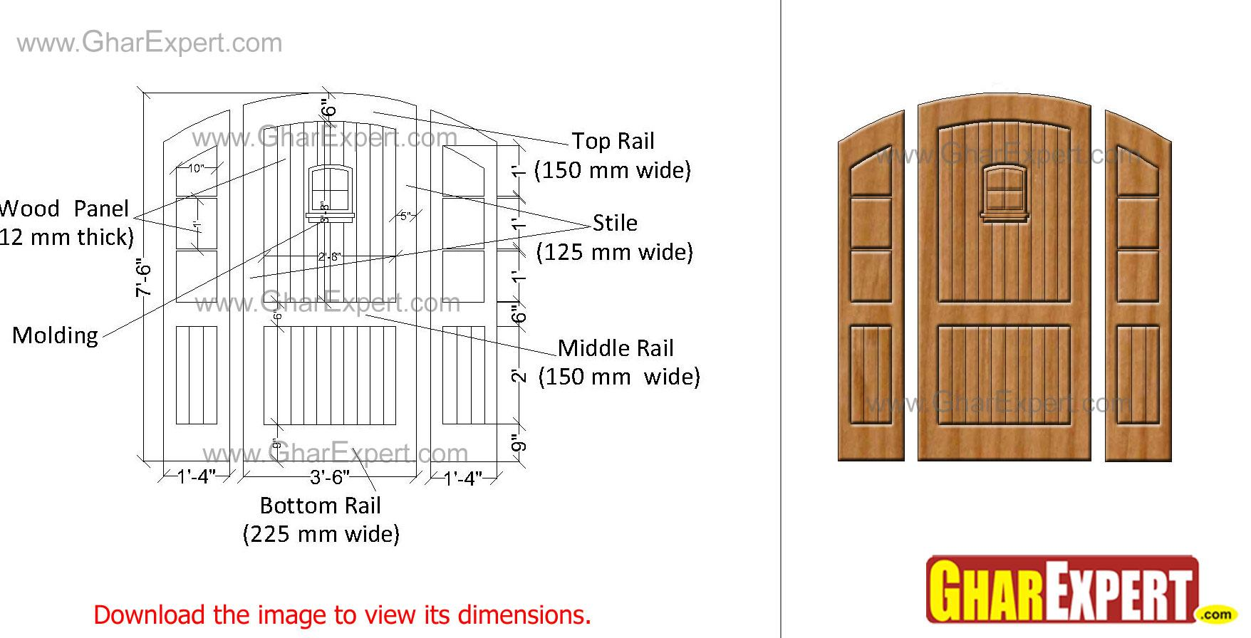 wooden sidelights and wooden d....