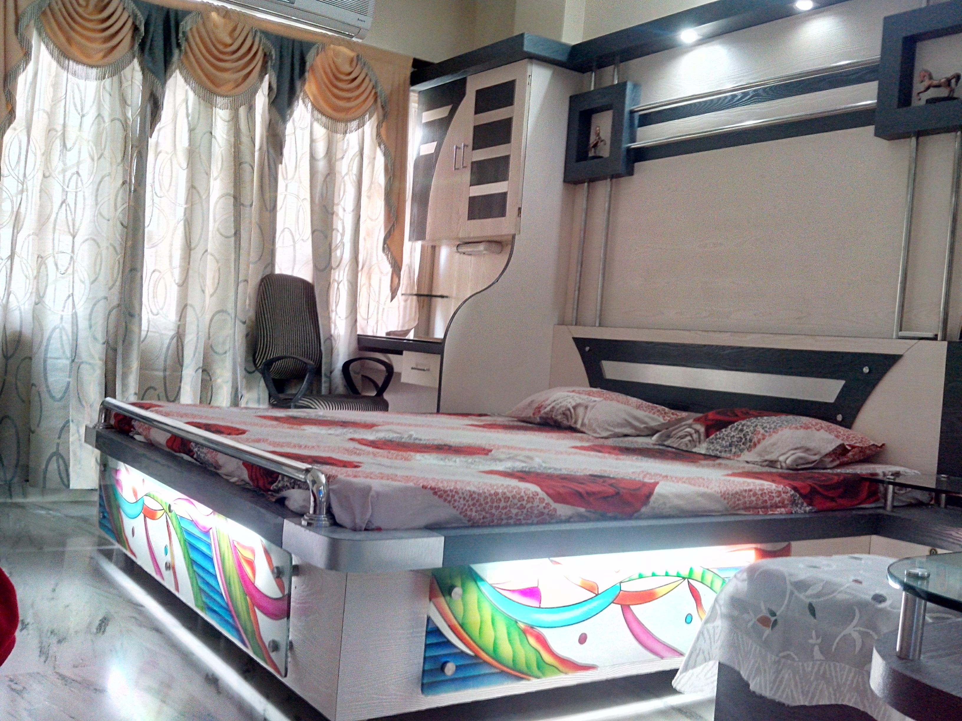 Bed and study table design for....