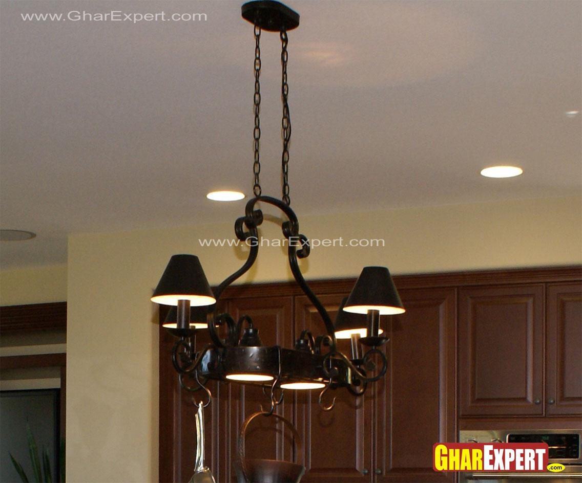 Wrought iron small chandelier ....